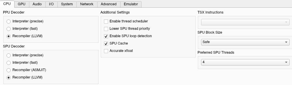 CPU options