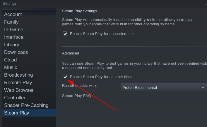 How to enable steamplay for all titles